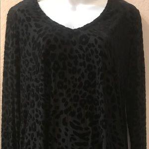 New Lularoe Cheetah Animal Print Sheer Shirt LArge